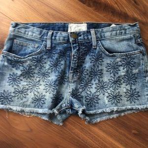Current/Elliott cutoff denim shorts